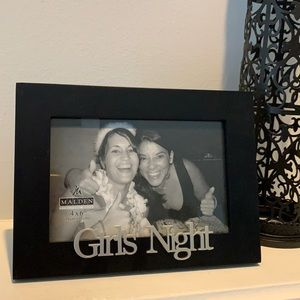 4x6 Girl's Night black & silver photo frame